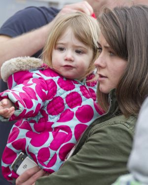 Gavin Blyth Memorial Cup Feb 19 2011 Brooke Vincent cuddles Jack Shepherds Daughter 2 year old Nyla image 2 sm.jpg