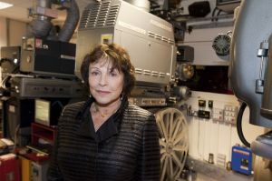 Film Festival  Clare Bloom in Pictureville projector room prior to departing March 25 2011 image 2 sm.jpg