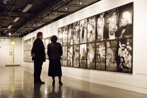 Film Festival Clare Bloom and Tony Earnshaw touring the galleries march 25 2011 image 2 sm.jpg