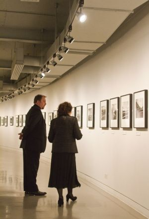 Film Festival Clare Bloom and Tony Earnshaw touring the galleries march 25 2011 image 3 sm.jpg