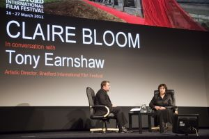 Film Festival Clare Bloom in conversation with Tony Earnshaw March 25 2011 stage image 3 sm.jpg