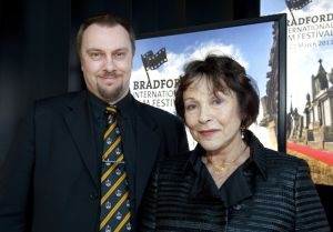 Film Festival Tony Earnshaw with Clare Bloom March 25 2011 foyer lightbox image 1 sm.jpg