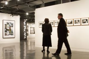 Film Festival Clare Bloom and Tony Earnshaw touring the galleries march 25 2011 image 1 sm.jpg