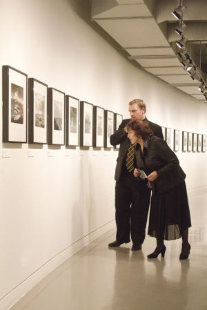 Film Festival Clare Bloom and Tony Earnshaw touring the galleries march 25 2011 image 5 sm.jpg