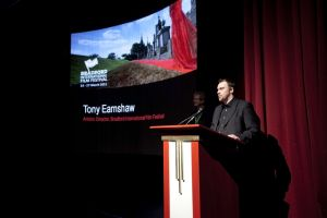 film festival pictureville how the west was won Tony Earnshaw introducing Sir Christopher Frayling  march 26 2011 image 1 sm.jpg