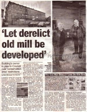 harris court mill feb 22 2011 telegraph argus.jpg