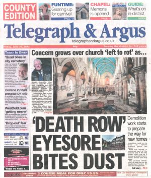 st pauls denholme telegraph and argus june 29 2012.jpg