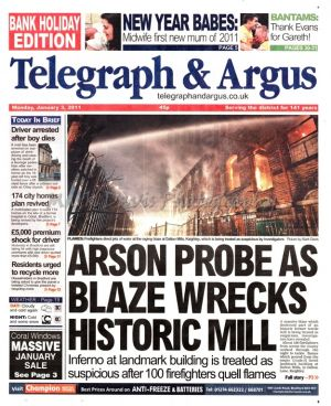 telegraph and argus january 3 2011 dalton mills front page.jpg