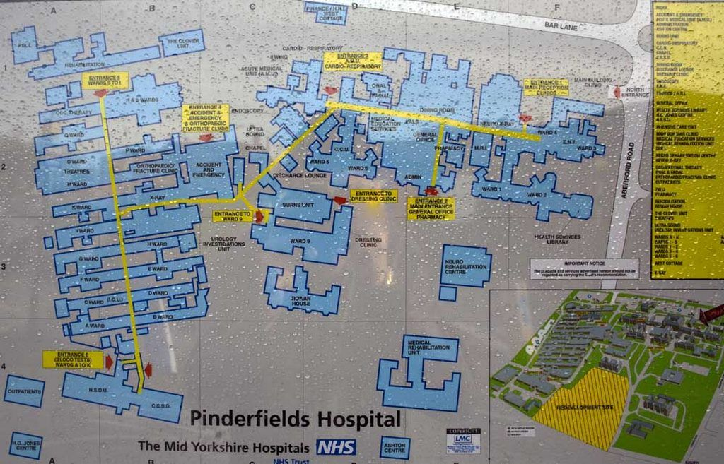 Pinderfields Hospital Map Pinderfields Hospital Prior and During Demolition Pinderfields Hospital Map