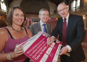 Paul Napier, Sue and Chris with the signed pledge from howard assembley rooms 2 sm.jpg