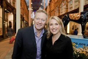 Rory Bremner with Kate Walby broadcast journalist and is currently, a presenter for ITV Yorkshires Calendar sm.jpg